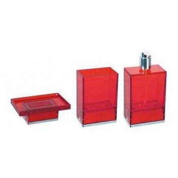 Набор аксессуаров для ванной красного цвета Koh-i-noor Lem R