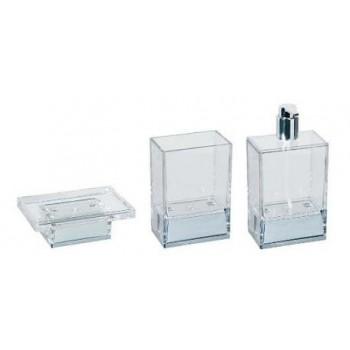 Набор аксессуаров для ванной хай тек Koh-i-noor Lem T прозрачные