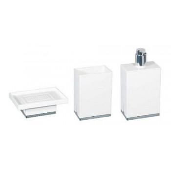 Набор аксессуаров для ванной белого цвета Koh-i-noor Lem V
