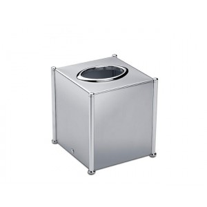 Салфетница-куб с вертикальным бором малая PLAIN WINDISCH 87107CR