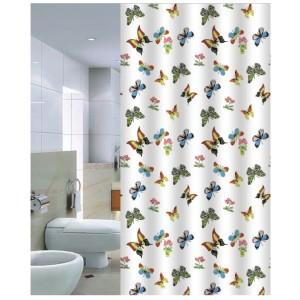 Штора для ванной 180*200 см. PRIMANOVA DR-50021 Butterflies