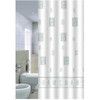 Штора для ванной 180*200 см. PRIMANOVA DR-50039 Hieroglyph