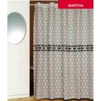 Штора для ванной с люверсами PRIMANOVA D-14840 Martha (белый)