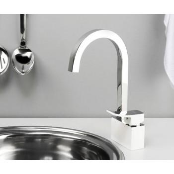 Смеситель для кухни с поворотным изливом WasserKRAFT Aller 1067 White
