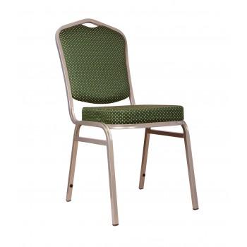 "Банкетный стул ""Хит 20мм"" - бронза, корона зеленая 006-22"