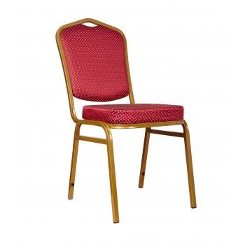 """Банкетный стул """"Хит 20мм"""" - золото, красная корона 006-15"""