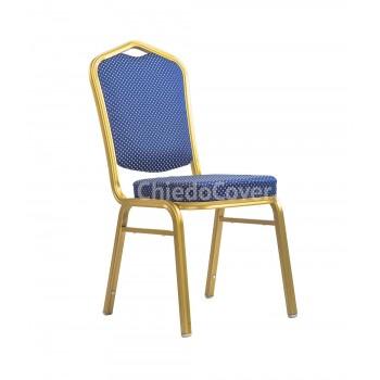 Банкетный стул Хит 25 мм Синяя корона, золото 006-1