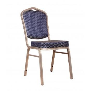 """Банкетный стул """"Хит 25мм"""" - бронза, синий ромб 006-26"""