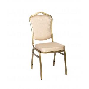 Банкетный стул Квадро 20мм (базовый) – золотой, бежевая корона 001-315