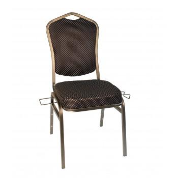 Банкетный стул Квадро 20мм с коннектором – медная чернь, синяя корона 001-73
