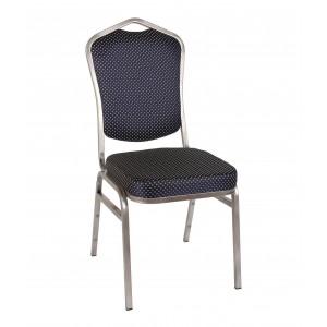 Банкетный стул Квадро 20мм - серебристый, синяя корона 001-30