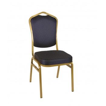 Банкетный стул Квадро 20мм – золотой, синяя корона 001-102