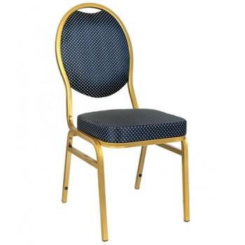 Банкетный стул Квин 20мм - золотой, синяя корона УТ000000710