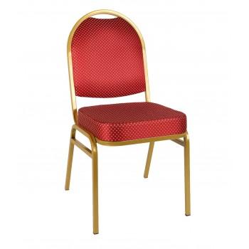 Банкетный стул Раунд 20мм - золотой, красная корона УТ000000111
