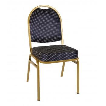 Банкетный стул Раунд 20мм -золотой, синяя корона УТ000000112