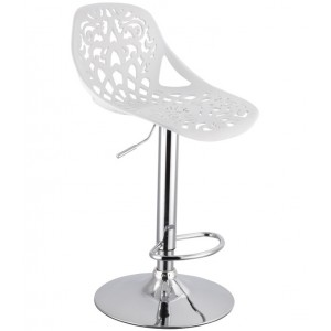 Барный стул Орнамент (Ornament) белый 001-54