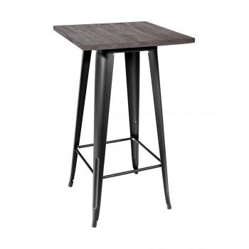Стол Tolix Wood dark барный УТ000000845