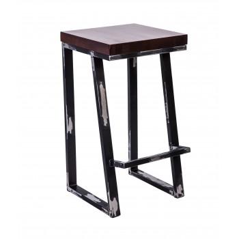 Стул барный лофт Терракс с деревянным сиденьем УТ000000837