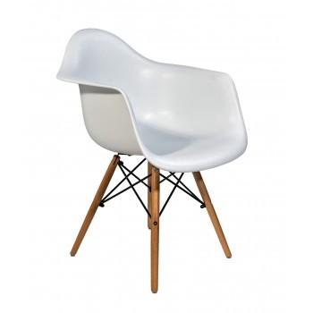 Стул-кресло Eames DAW белый 001-111