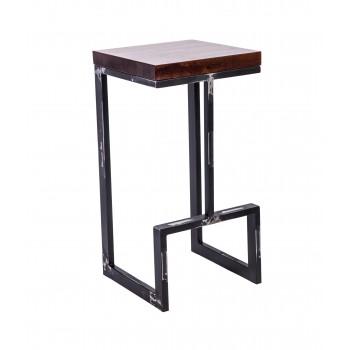 Стул полубарный лофт Альтрон с деревянным сиденьем УТ000000836