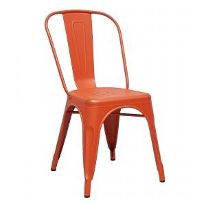 Стул TOLIX оранжевый патина серая УТ000000550