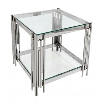 Журнальный столик 55*55 ГЭТСБИ серебро УТ000000888
