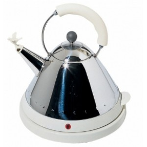 Чайник электрический со свистком белый Alessi MG32 W