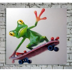 Картина лягушка на скейте Kare Ob55501