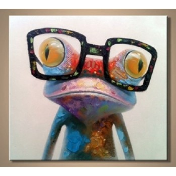 Картина лягушка в очках Kare Ob55503
