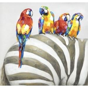 Картина попугаи и зебра Kare Ob55508